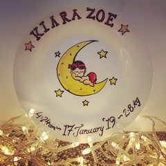 Birth plate - Hand painted personalized plates(keepsakes)