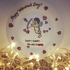 Valentine's day - Hand painted personalized plates (keepsakes)