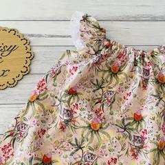 Possum Seaside Dress, Size 000 00 0 1 2 3 4 or 5 ruffle sleeves