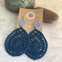 Waterdrops Crochet Dangle Earrings