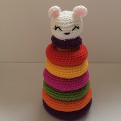 Crochet stacking toy, baby toy, gift, toy, accessory, baby shower, nursery