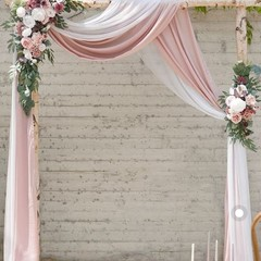 Ivory & Dusty Pink Outdoor Archway – #1201
