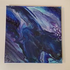 Galaxy Swirl 15cm x 15 cm Canvas Art