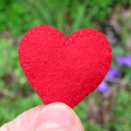 Felt heart brooch, red heart, Valentine's Day, Token Gift, Just Because