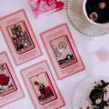 Pink tarot deck with keywords, oracle cards, 78 cards, oracle deck