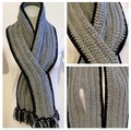 Grey with a touch of Black Scarf