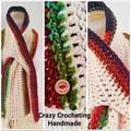 Cream Rainbow scarf