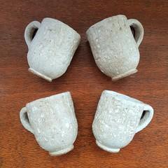 Set of 4 Stoneware Espresso Cups