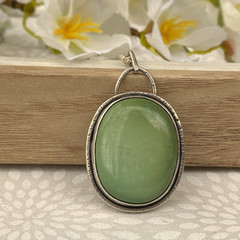 OOAK  - Turquoise and Sterling Silver Pendant