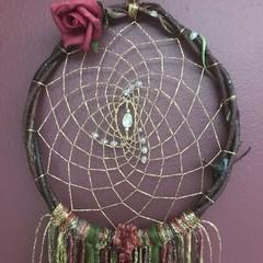 "Dreamcatcher Art - ""Spinner of Gold"""