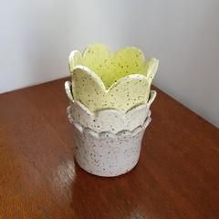 Stoneware 'Petal' Vase