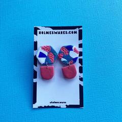 Garden Party Dangle  - Polymer Clay Earrings