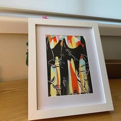 ORIGINAL Framed Abstract Bloom Artwork Piece