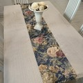 NEW-Table Runner Cloth-Floral Coffee- 138cm x 145cm