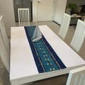 NEW-Table Runner Cloth - Manly Blue Sailing -1420cm x 1520cm-$45.00
