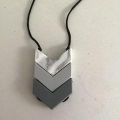 Grey Tone Arrow Necklace 70cm without pendant 78cm with pendant