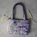 Hand Dyed Leather Shoulder Bag with Fabric Lining