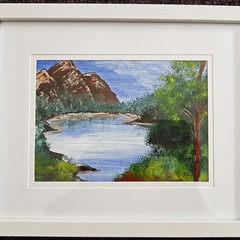 Original painting West MacDonnell Ranges NT.