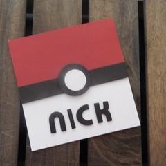 Handmade Card - Pokemon Personalised Card