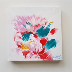 Floral Bisque  15cm x 15cm Canvas Art