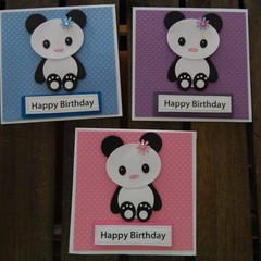 Handmade Card -Panda - Birthday Day Card