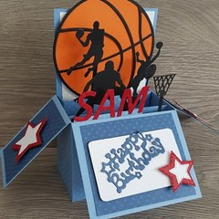 Card In a Box - Basketball - Birthday - Personalised