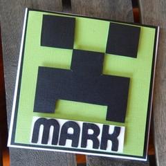 Handmade Card - Minecraft Personalised Card