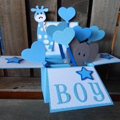 Card In a Box - Baby Boy