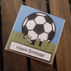 Handmade Card - Soccer Ball - Birthday Day Card