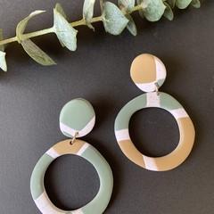 Sage and sandy Dangle Earrings