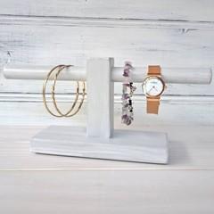 """GREY WOODEN STAND"", bracelet/bangle/hairband/ holder, single or doublet bars"