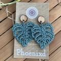 Monstera Crochet Earrings
