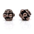 50pcs Spacer Beads 3.5x3.5mm Antique Copper Tone