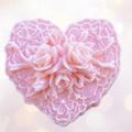 3D Rose Heart Soap - Goats Milk Soap