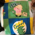 Pegga pig theme re-useable gift bag, sports, library, child care or dance bag
