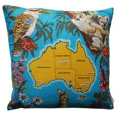 Vintage Retro 'Australia' Cushion