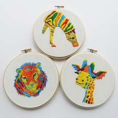 3x DIY Kit Zoo Collection (3 colorful animals)
