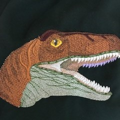 Dinosaur  theme re-useable gift bag, sports, library, child care or dance bag
