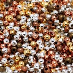 100pcs Round Spacer Beads 3 sizes 2 Colours Antique Bronze Antique Copper
