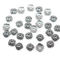 8mm Tibetan Silver Plated Bead Caps 50pcs