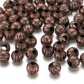 30pcs 6mm Fluted Round Spacer Beads 2 Colours  Antique Bronze Antique Copper