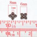 50pcs 4 Leaf Bead Caps 6x8mm 2 Colours Antique Bronze Antique Copper