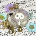 Handmade  Glass Bead Lampwork Wearable Art Raw Brass