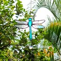 Dragonfly Stained Glass Suncatcher // Turquoise
