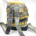 Backpack crochet bag, crochet backpack bag, shoulder bag, limited edition, Winte