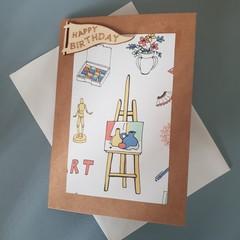 Art birthday card