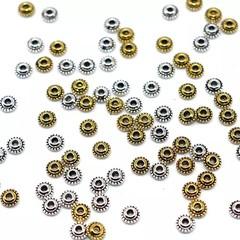 50pcs 5mm Saucer Spacer Beads Antique Silver Antique Gold