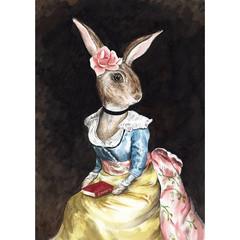 Art print 'Lady Viola, a rabbit of elegance'