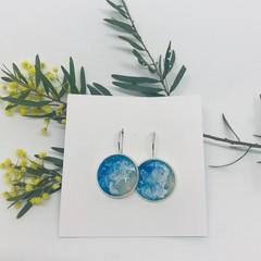 Beach Earrings French lever-back, beach, fashion, earring | silver resin earring