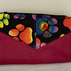 Leather & Paws Harlequin Pouch